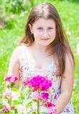 Retrato de la muchacha de 10 años Fotos de archivo libres de regalías