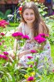 Retrato de la muchacha de 10 años Imagen de archivo