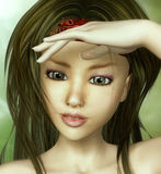 Retrato de la muchacha de la belleza ilustración del vector