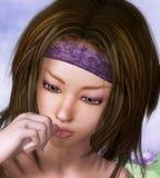 Retrato de la muchacha de la belleza libre illustration