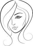 Retrato de la muchacha de la cara de la belleza Fotografía de archivo libre de regalías