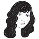 Retrato de la muchacha de la cara del vector Foto de archivo libre de regalías