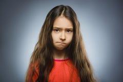 Retrato de la muchacha de la ofensa Emoción humana negativa imagen de archivo libre de regalías