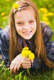 Retrato de la muchacha de la primavera Fotografía de archivo