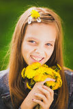 Retrato de la muchacha de la primavera Fotos de archivo