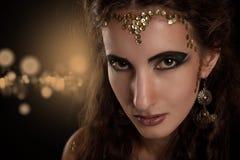 Retrato de la muchacha de la serpiente Imágenes de archivo libres de regalías