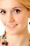 Retrato de la muchacha de pelo rubio Imagen de archivo