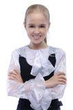 Retrato de la muchacha de pelo rubio joven Imagen de archivo