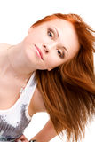 Retrato de la muchacha del adolescente del redhead imagen de archivo