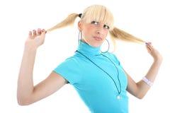 Retrato de la muchacha del blondie Fotografía de archivo libre de regalías