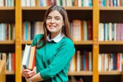 Retrato de la muchacha del estudiante Imágenes de archivo libres de regalías