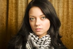 Retrato de la muchacha del estudiante imagenes de archivo