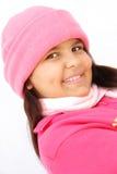 Retrato de la muchacha del invierno Imagenes de archivo