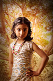 Retrato de la muchacha del modelo de moda foto de archivo libre de regalías