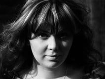 retrato de la muchacha del Retro-estilo Imagenes de archivo