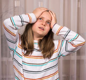Retrato de la muchacha del trastorno Imágenes de archivo libres de regalías