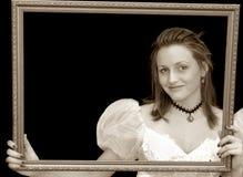Retrato de la muchacha del Victorian Foto de archivo