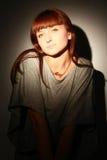 Retrato de la muchacha elegante. Fotos de archivo libres de regalías