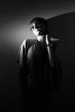 Retrato de la muchacha elegante en blanco y negro. Fotos de archivo libres de regalías