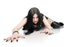 Retrato de la muchacha en estilo gótico Imagen de archivo