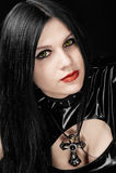 Retrato de la muchacha en estilo gótico Fotografía de archivo
