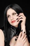 Retrato de la muchacha en estilo gótico Fotografía de archivo libre de regalías