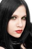 Retrato de la muchacha en estilo gótico Fotos de archivo libres de regalías
