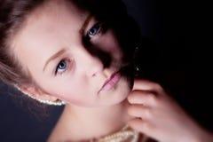 Retrato de la muchacha en estudio Fotografía de archivo libre de regalías