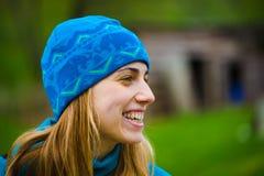 Retrato de la muchacha en sombrero Fotos de archivo libres de regalías