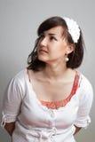 Retrato de la muchacha encantadora fotos de archivo