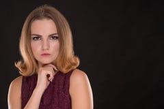 Retrato de la muchacha enojada Fotografía de archivo libre de regalías