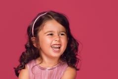 Retrato de la muchacha feliz Foto de archivo libre de regalías