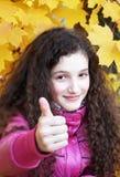 Retrato de la muchacha feliz hermosa Fotografía de archivo libre de regalías