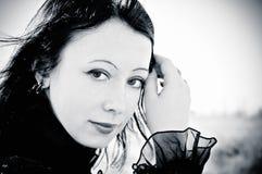 Retrato de la muchacha gótica hermosa Fotografía de archivo