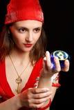 Retrato de la muchacha gitana Foto de archivo