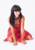 Retrato de la muchacha hermosa Imágenes de archivo libres de regalías