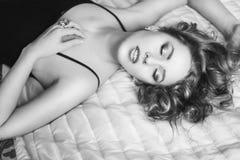 Retrato de la muchacha hermosa Fotografía de archivo