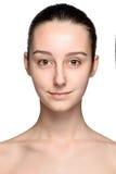 Retrato de la muchacha hermosa con la piel sana Fotografía de archivo