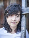 Retrato de la muchacha hermosa con una visión triste Imagen de archivo