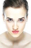 Retrato de la muchacha hermosa en tonos ligeros Fotografía de archivo