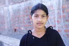 Retrato de la muchacha india del pueblo Foto de archivo