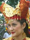 Retrato de la muchacha indonesia fotografía de archivo libre de regalías