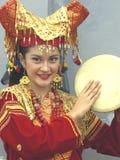 Retrato de la muchacha indonesia fotografía de archivo