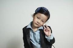 Retrato de la muchacha linda joven fotos de archivo