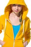 Retrato de la muchacha moderna del adolescente en suéter Imagen de archivo