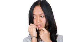 Retrato de la muchacha que mira a un lado. Imágenes de archivo libres de regalías