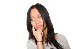 Retrato de la muchacha que mira a un lado Imagen de archivo libre de regalías