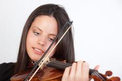Retrato de la muchacha que toca el violín Imagenes de archivo