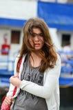 Retrato de la muchacha que viaja Fotos de archivo