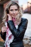Retrato de la muchacha rubia Imágenes de archivo libres de regalías